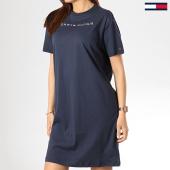 /achat-robes/tommy-hilfiger-robe-femme-logo-1639-bleu-marine-174693.html