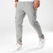 /achat-pantalons-carreaux/brave-soul-pantalon-a-bandes-sterling-noir-blanc-174910.html