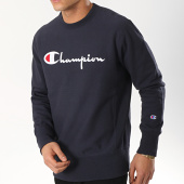 /achat-sweats-col-rond-crewneck/champion-sweat-crewneck-212576-bleu-marine-174992.html
