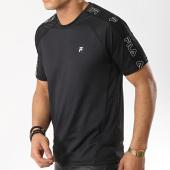 /achat-t-shirts/fila-tee-shirt-de-sport-avec-bandes-livorno-682622-noir-174933.html