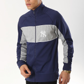 /achat-vestes/majestic-athletic-veste-zippee-mlb-new-york-yankees-cut-sew-bleu-marine-gris-chine-174923.html