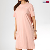 /achat-robes/tommy-hilfiger-jeans-robe-femme-logo-1639-rose-174832.html