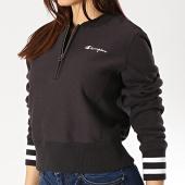 /achat-sweats-col-zippe/champion-sweat-col-zippe-femme-111565-noir-175021.html