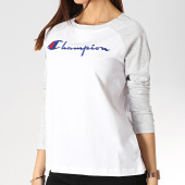 /achat-t-shirts-manches-longues/champion-tee-shirt-manches-longues-femme-111644-blanc-gris-chine-175030.html