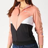 /achat-vestes/champion-veste-zippee-femme-111864-noir-rose-blanc-175034.html