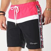 /achat-maillots-de-bain/champion-short-de-bain-avec-bandes-213115-noir-rose-175060.html