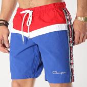 /achat-maillots-de-bain/champion-short-de-bain-avec-bandes-213115-bleu-marine-blanc-rouge-175062.html