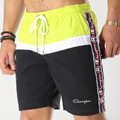 /achat-maillots-de-bain/champion-short-de-bain-avec-bandes-213115-noir-blanc-vert-175064.html