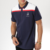/achat-polos-manches-courtes/fff-polo-manches-courtes-fan-f18010-bleu-marine-blanc-175254.html
