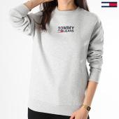 /achat-sweats-col-rond-crewneck/tommy-hilfiger-jeans-sweat-crewneck-femme-bold-tommy-6124-gris-chine-175331.html
