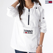 /achat-coupe-vent/tommy-hilfiger-jeans-coupe-vent-femme-popover-6635-blanc-175345.html