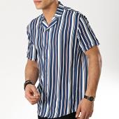/achat-chemises-manches-courtes/classic-series-chemise-manches-courtes-1447-bleu-marine-blanc-175356.html