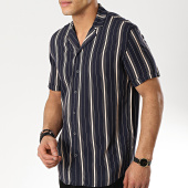 /achat-chemises-manches-courtes/classic-series-chemise-manches-courtes-1447-retro-bleu-marine-beige-175357.html