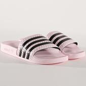 /achat-claquettes-sandales/adidas-claquettes-femme-adilette-cg6148-rose-noir-175569.html
