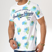 /achat-t-shirts/american-people-tee-shirt-surd-blanc-floral-175683.html