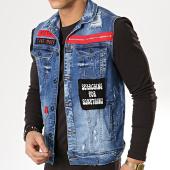 /achat-vestes-jean/black-needle-veste-jean-sans-manches-patchs-brodes-2593-bleu-denim-175632.html
