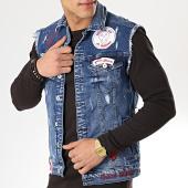 /achat-vestes-jean/classic-series-veste-jean-sans-manches-patchs-brodes-2592-bleu-denim-175659.html