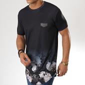 /achat-t-shirts-longs-oversize/gianni-kavanagh-tee-shirt-oversize-faded-nostalgic-noir-degrade-floral-175607.html