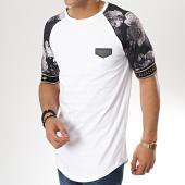 /achat-t-shirts-longs-oversize/gianni-kavanagh-tee-shirt-oversize-avec-bande-nostalgic-rose-blanc-noir-floral-175613.html