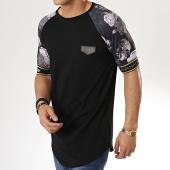 /achat-t-shirts-longs-oversize/gianni-kavanagh-tee-shirt-oversize-avec-bande-nostalgic-rose-noir-floral-175614.html