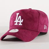 /achat-casquettes-de-baseball/new-era-casquette-femme-suedine-los-angeles-dodgers-11891341-violet-175671.html