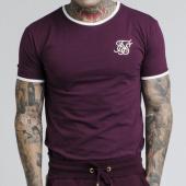 /achat-t-shirts-longs-oversize/siksilk-tee-shirt-oversize-13525-bordeaux-blanc-175637.html