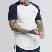 /achat-t-shirts-longs-oversize/siksilk-tee-shirt-oversize-13771-gris-chine-bleu-marine-dore-175654.html