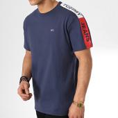 /achat-t-shirts/tommy-hilfiger-jeans-tee-shirt-avec-bandes-sleeve-graphic-6082-bleu-marine-175693.html