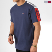 /achat-t-shirts/tommy-hilfiger-jeans-tee-shirt-avec-bandes-sleeve-graphic-6082-bleu-marine-175693.html