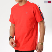 /achat-t-shirts/tommy-hilfiger-jeans-tee-shirt-avec-bandes-sleeve-graphic-6082-rouge-175702.html