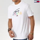 /achat-t-shirts/tommy-hilfiger-jeans-tee-shirt-script-6091-blanc-175713.html