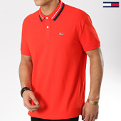 /achat-polos-manches-courtes/tommy-hilfiger-jeans-polo-manches-courtes-classics-stretch-5509-rouge-175718.html