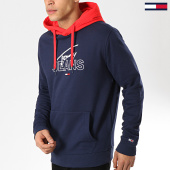 /achat-sweats-capuche/tommy-hilfiger-jeans-sweat-capuche-colorblock-6040-bleu-marine-175733.html