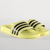 /achat-claquettes-sandales/adidas-claquettes-femme-adilette-cm8494-jaune-noir-175782.html