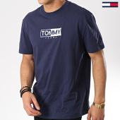 /achat-t-shirts/tommy-hilfiger-jeans-tee-shirt-logo-6215-bleu-marine-175740.html