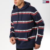 /achat-sweats-capuche/tommy-hilfiger-jeans-sweat-capuche-stripes-6056-bleu-marine-175761.html