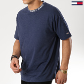 /achat-t-shirts/tommy-hilfiger-jeans-tee-shirt-heather-branded-collar-6062-bleu-marine-175763.html