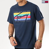 /achat-t-shirts/tommy-hilfiger-jeans-tee-shirt-tommy-rainbow-box-6079-bleu-marine-175764.html