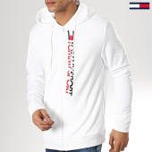 /achat-sweats-zippes-capuche/tommy-sport-sweat-zippe-capuche-vertical-logo-0066-blanc-175779.html
