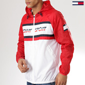 /achat-coupe-vent/tommy-sport-coupe-vent-chest-logo-0090-rouge-blanc-175780.html