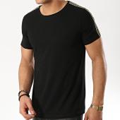 /achat-t-shirts/zayne-paris-tee-shirt-avec-bandes-tx-182-noir-dore-175828.html