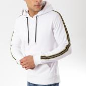 /achat-sweats-capuche/zayne-paris-sweat-capuche-avec-bandes-tx-197-blanc-175842.html