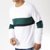 /achat-t-shirts-manches-longues/selected-tee-shirt-manches-longues-tony-blanc-vert-bleu-marine-175963.html