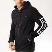 /achat-sweats-zippes-capuche/calvin-klein-sweat-zippe-capuche-performance-j432-noir-blanc-176108.html
