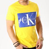 /achat-t-shirts/calvin-klein-tee-shirt-monogram-box-logo-7843-jaune-176133.html