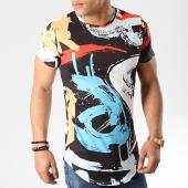 /achat-t-shirts-longs-oversize/john-h-tee-shirt-oversize-a028-noir-blanc-rouge-176089.html