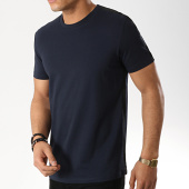 /achat-t-shirts/selected-tee-shirt-a-bandes-rib-bleu-marine-176207.html