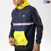 /achat-coupe-vent/tommy-sport-coupe-vent-tape-0010-bleu-marine-jaune-176055.html