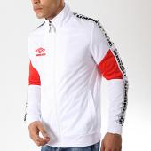 /achat-vestes/umbro-veste-zippee-avec-bandes-street-716780-60-blanc-rouge-176046.html