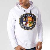 /achat-sweats-capuche/ghetto-fabulous-gang-sweat-capuche-blason-blanc-176274.html